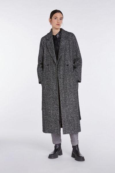 Set Long Overcoat - Black OffWhite
