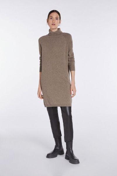 SET Turtleneck Wool Dress - Heather Brown Grey