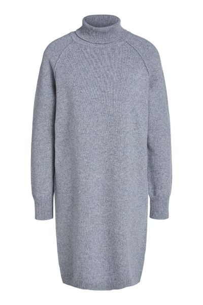 SET Turtleneck Wool Dress - Heather Grey