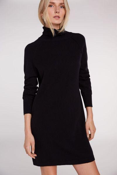 SET Turtleneck Wool Dress - Black