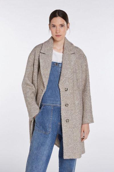 SET Coat - Offwhite/Brown