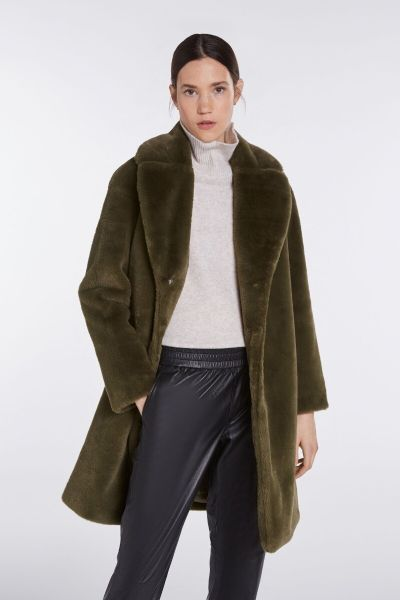 SET Teddy Coat - Moss Green