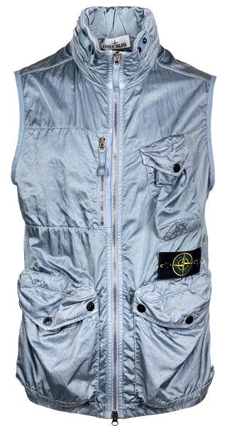 Stone Island Nylon Raso-TC Bodywarmer - Blue/Grey