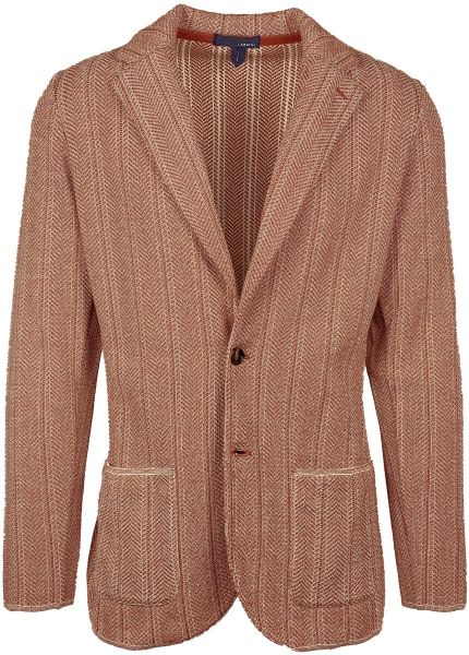 Lardini Knitted Jacket - Brique