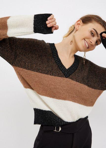 Liu Jo V Neck Sweater in Black Vanise