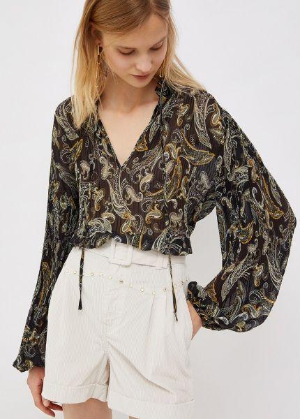 Liu Jo Tunic Blouse - Black Cashmere Floral Print
