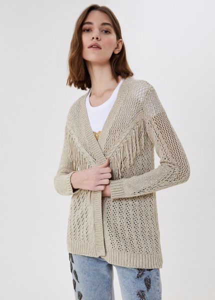 Liu Jo Eco Friendly Cardigan With Fringes