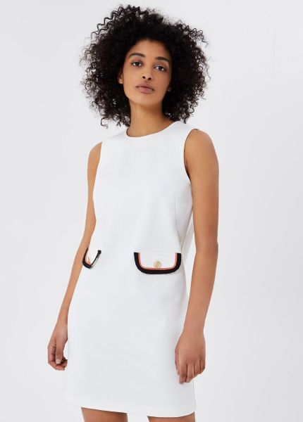 Liu Jo Short Dress With Pockets - White