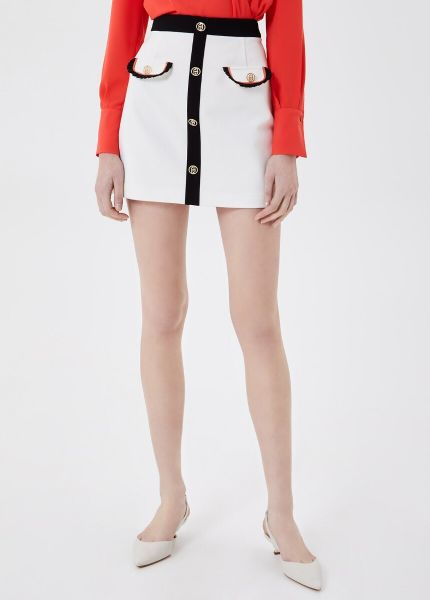 Liu Jo Short Skirt With Buttons - White