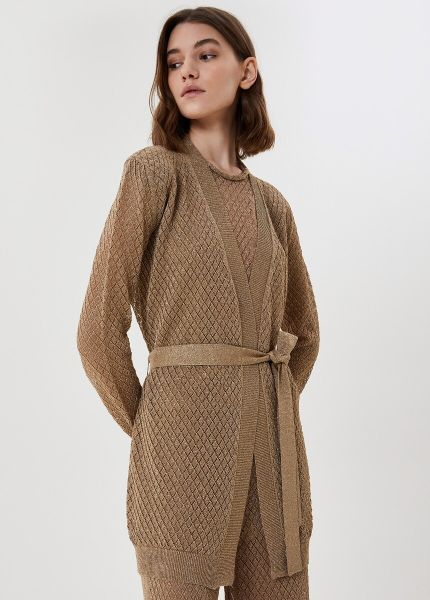 Liu Jo Gold Lurex Cardigan