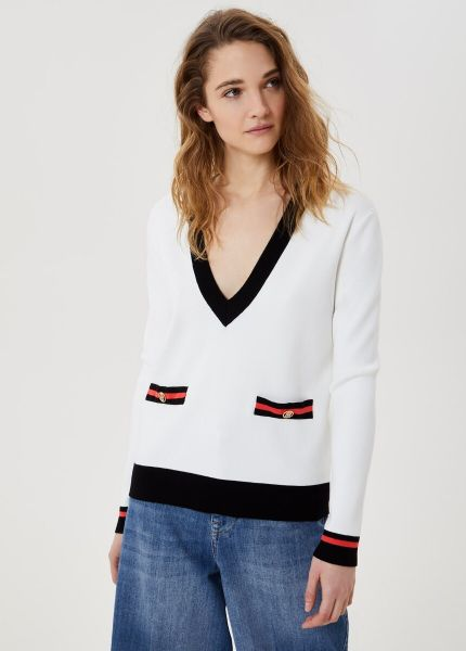 Liu Jo Eco Friendly Jumper - White Black