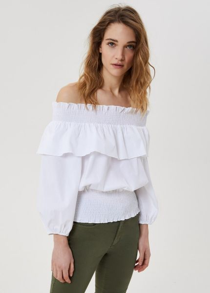 Lui Jo Top With Flounces - White