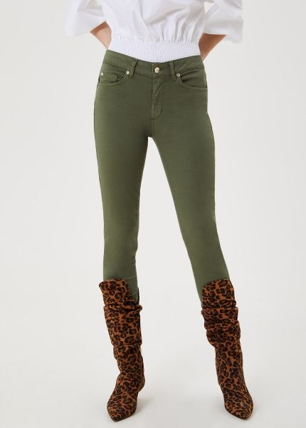 Liu Jo High Waist Skinny Jeans in Olive Green