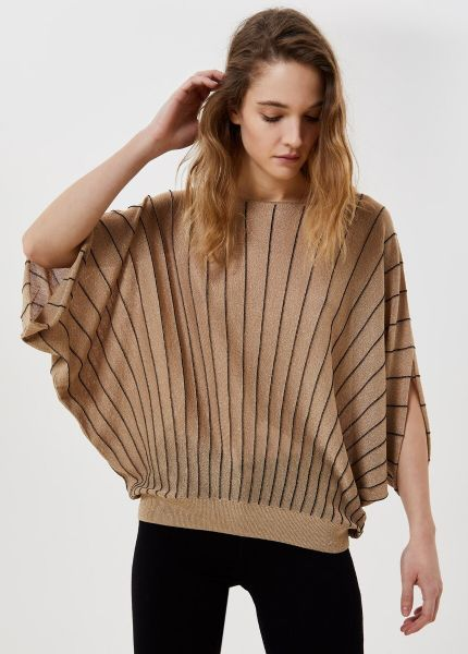 Liu Jo Lurex Sweater in Gold