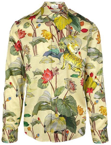Etro Shirt Tiger Print - Beige
