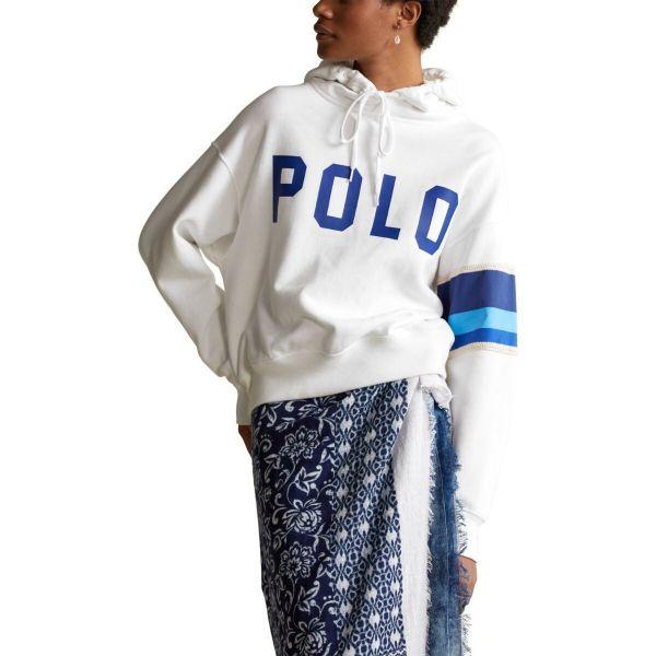 Ralph Lauren Polo Fleece Hoodie - White