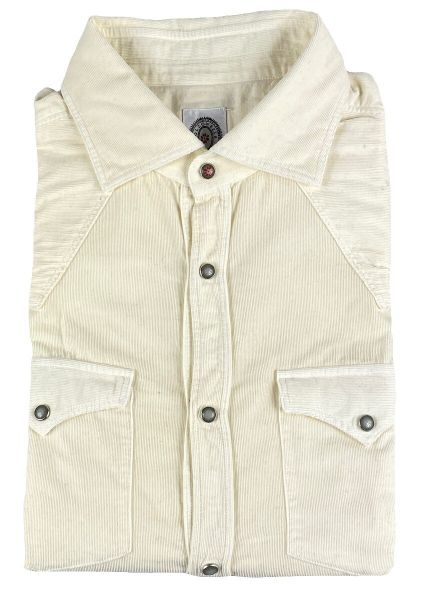 Bolzonella Thin Ribcord Shirt - White