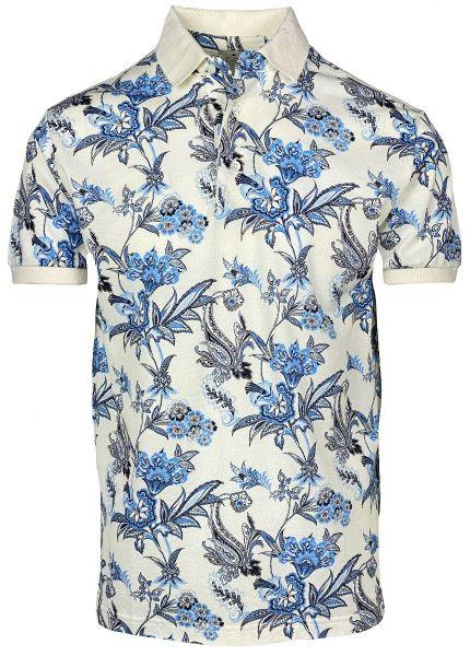 Etro Poloshirt Flower Print - White