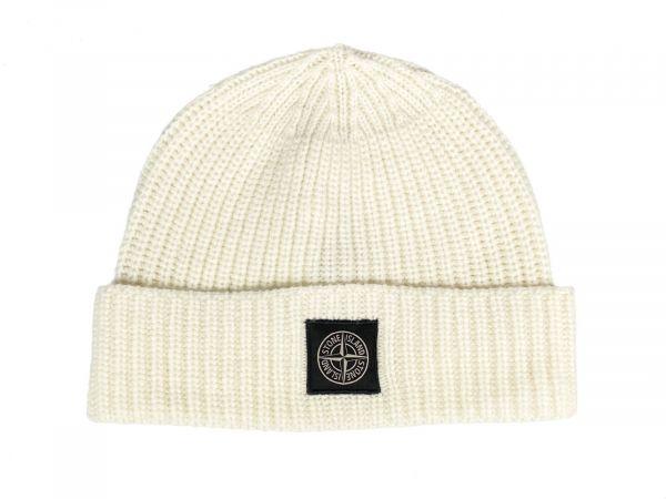 Stone Island Wool Hat - Natural White