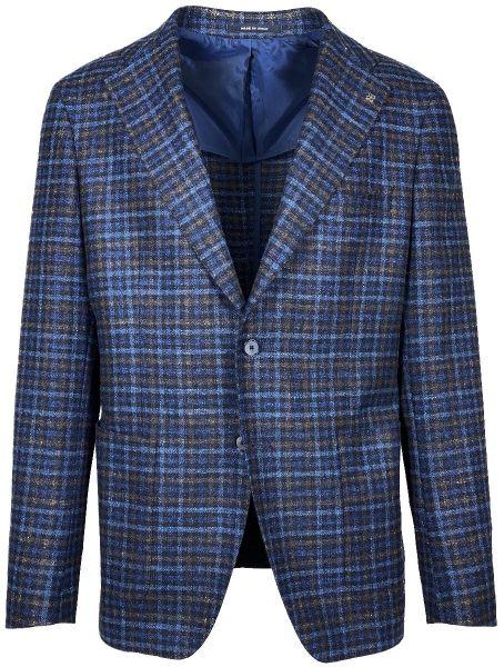 Tagliatore Jacket - Blue/Brown