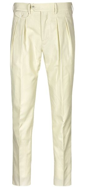 Lardini Two Pleated Pants - Creme