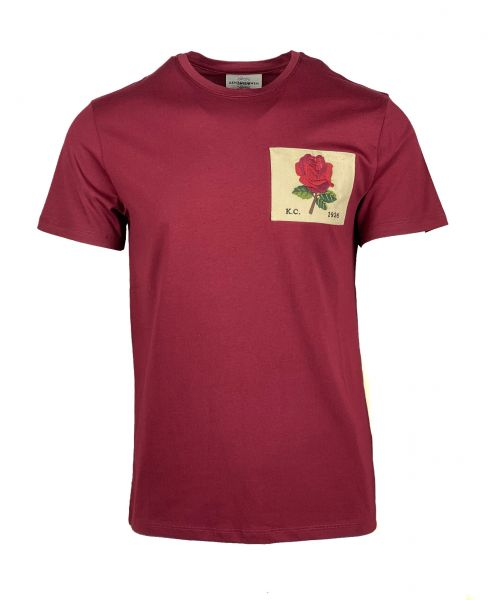 Kent & Curwen Vintage Rose Patch T-Shirt - Bordeaux