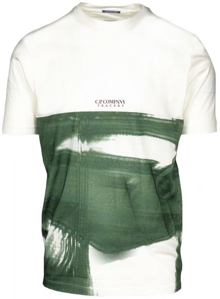 C.P. Company Digital Print T-Shirt - White/Green