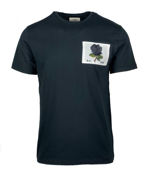 Kent & Curwen Rose Patch T-Shirt - Black