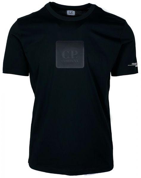 C.P. Company Logo Plaque T-Shirt - Zwart