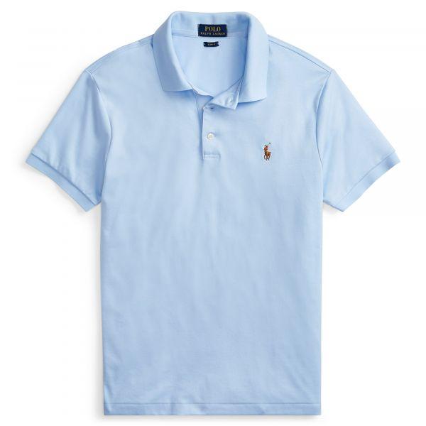 Ralph Lauren Slimfit Soft Touch Polo - Licht Blauw