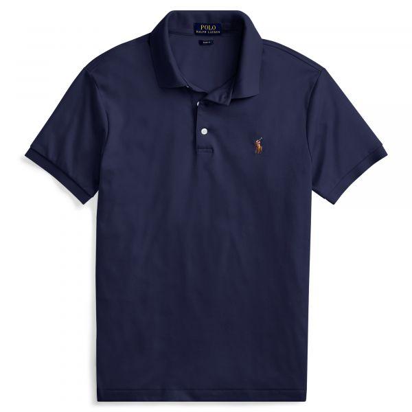 Ralph Lauren Slimfit Soft Touch Polo - Blauw