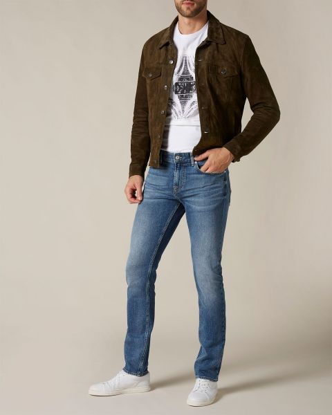 Seven For All Mankind Ronnie Emerald Blue With Camo Detail