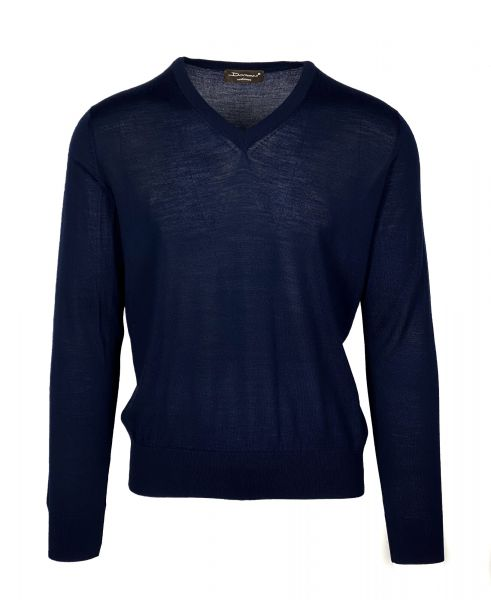 Doriani V-Neck Pullover - Dark Blue