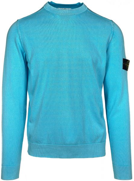 Stone Island White Frost Treatment Pullover - Turquoise