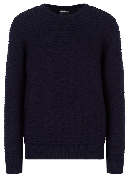 Emporio Armani Knitted Sweater - Navy