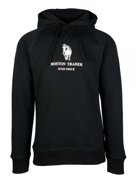 Boston Trader Icon Piece Hoodie - Zwart