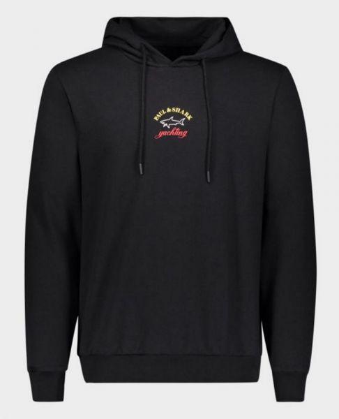 Paul & Shark Logo Hoodie - Zwart