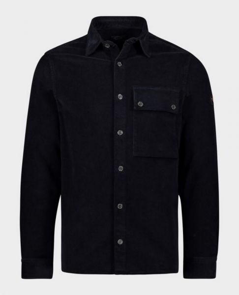 Paul & Shark Ribcord Stretch Overshirt - Zwart