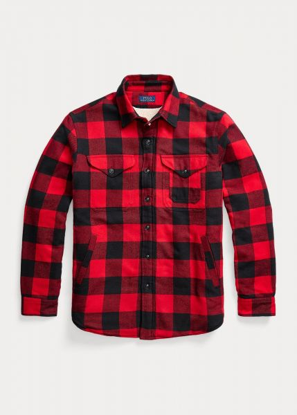 Ralph Lauren Cabin Flannel Fleece Overshirt