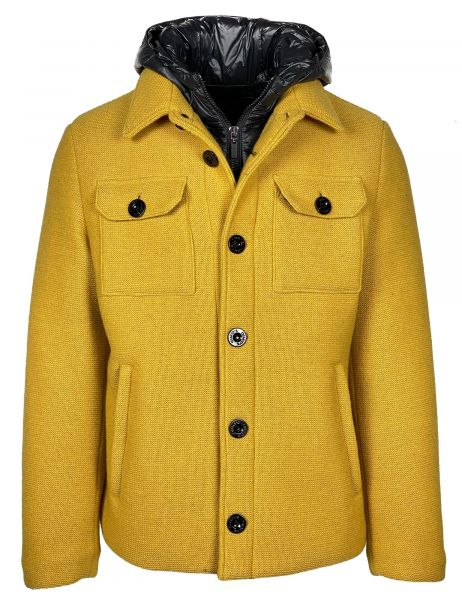 Gimo's Knitted Winter Coat - Yellow