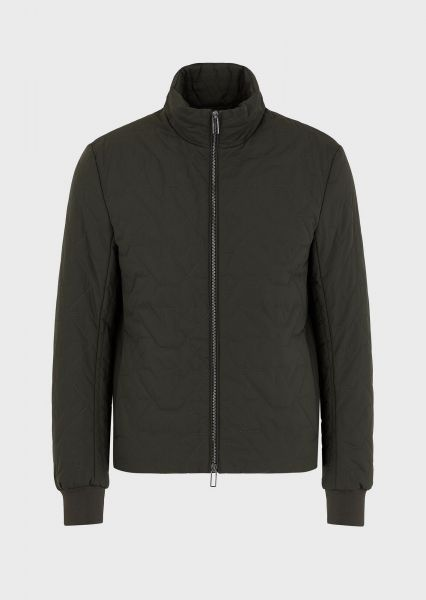 Emporio Armani Quilted Bomber - Military Green