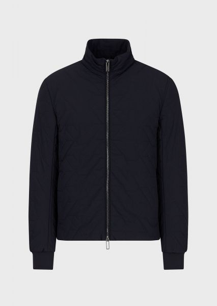Emporio Armani Quilted Bomber - Navy