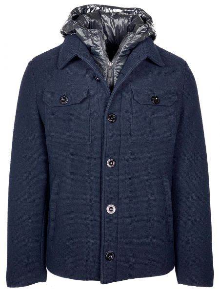 Gimo's Knitted Winter Coat - Dark Blue