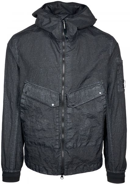 C.P. Company Co-Ted Garment Dyed Jacket - Black