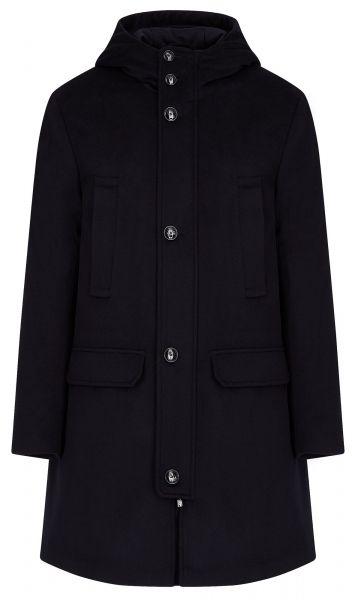 Emporio Armani Blend Cloth Coat - Navy