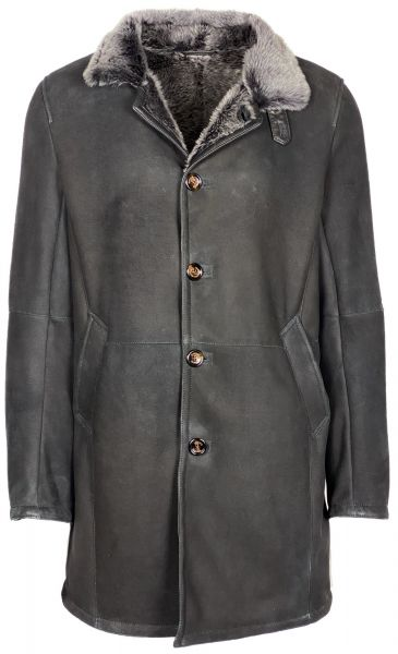 Gimo's Shearling Coat - Black