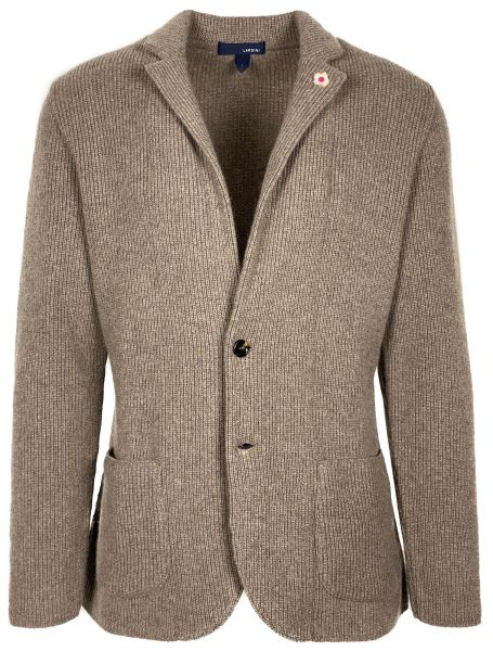 Lardini Knitted Jacket - Dark Beige