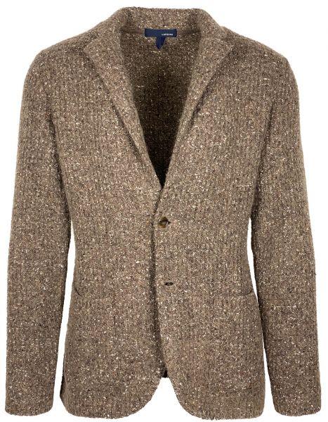 Lardini Knitted Jacket - Dark Beige / Brown