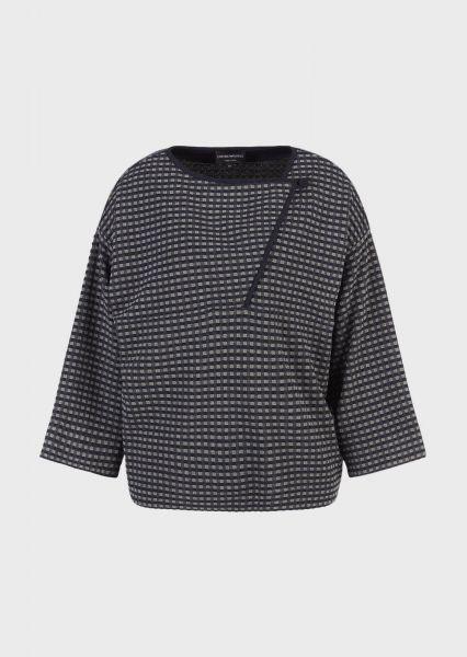 Emporio Armani Jacquard Gingham Sweater