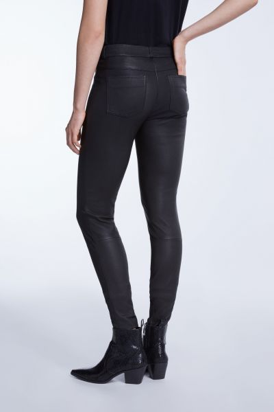 Set Skinny Leather Pants - Black